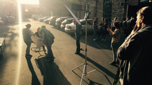 Fotoshooting an der Pop-Akademie