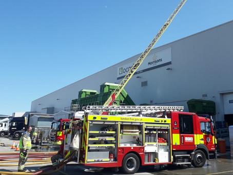 Major fire breaks out at Ocado