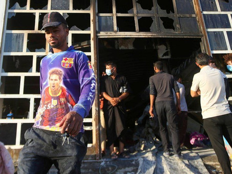 Protests as Covid ward blaze kills 50