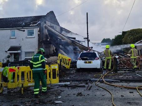 Illingworth explosion: Three people taken to hospital