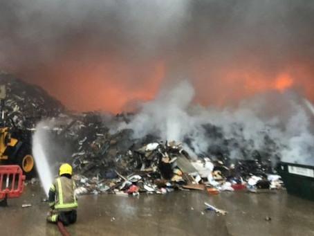 Romsey industrial estate blaze