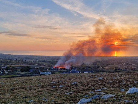 Fire crews have been tackling a number of large mountain and grass fires across Wales.
