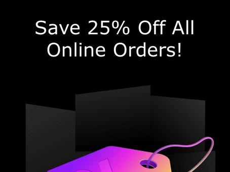 Black Friday - 25% off Online Orders