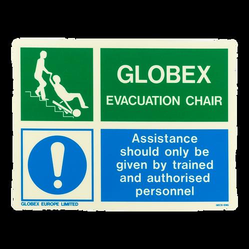 Globex Evacuation Chair Sign