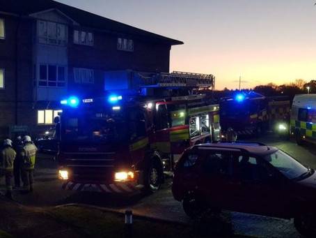 Trapped residents rescued as care home evacuated.