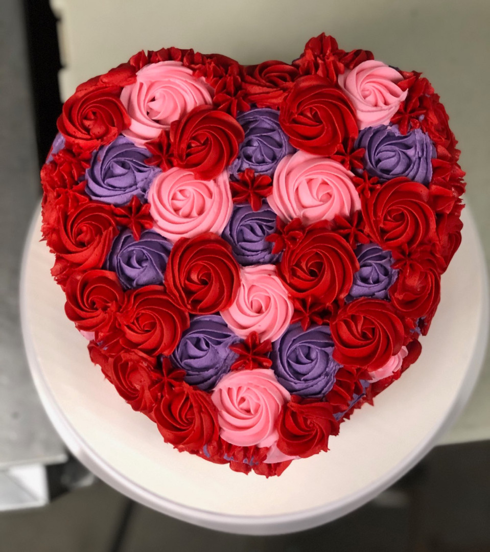 Red Heart Cake - 41