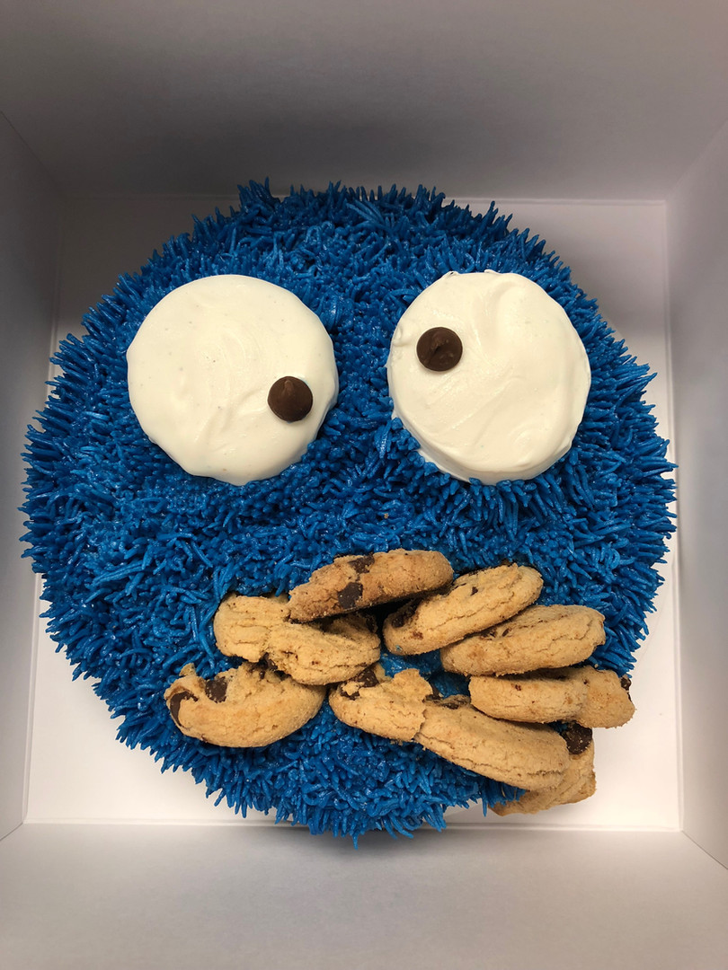 Cookie Monster Cake - 8