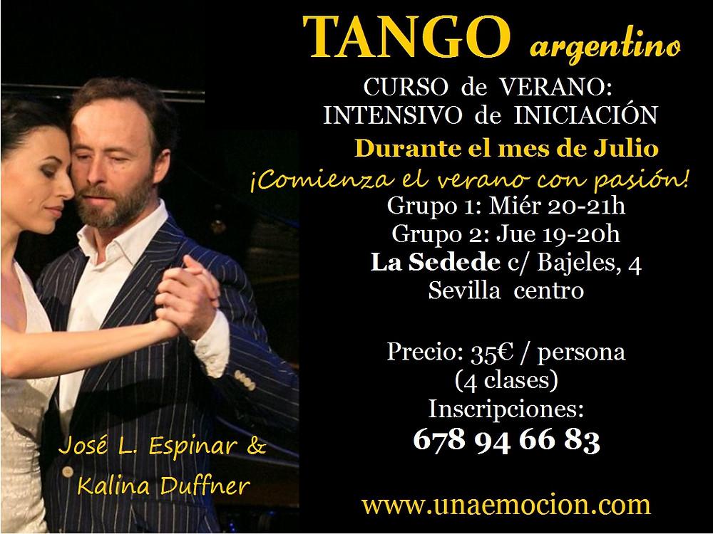 Intensivo de Iniciación al Tango en Julio