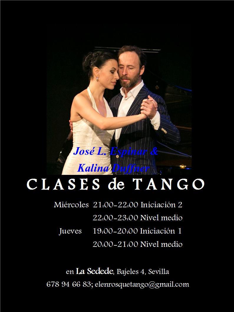 Tango desde 0. Los Jueves de 19 a 20 h. Se ruega puntualidad.