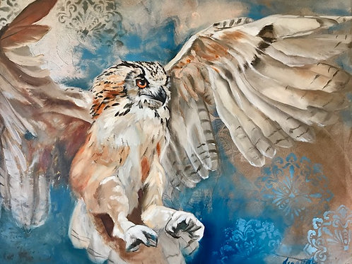 Wisdom in Wings 20x16