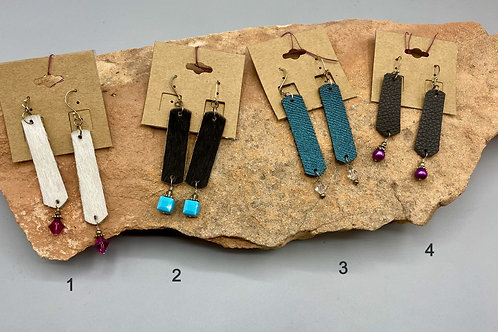 Leather Earrings by HJB