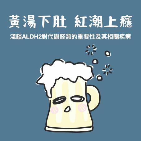 黃湯下肚,紅潮上引——淺談ALDH2對代謝醛類的重要性及其相關疾病