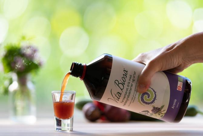 Nu kan du også få Vita Biosa Aronia som 1 liters flaske
