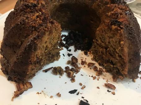 Pecan Tea Cake. Oil free. Vegan