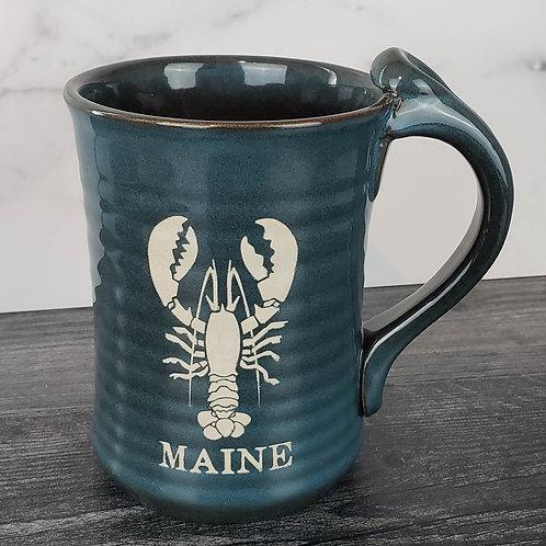 Maine Lobster Tall Artisan Pottery Mug