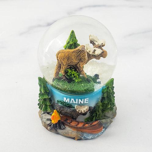 Maine Moose Snowglobe