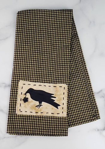 Crow with Star Applique Dish Towel
