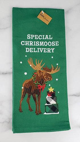 Chrismoose Embroidered Dish Towel
