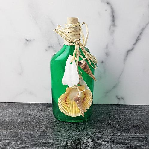 Dark Green Bottle w/Shell