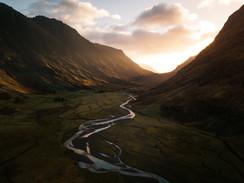 Golden-Light-Glencoe-Mountains