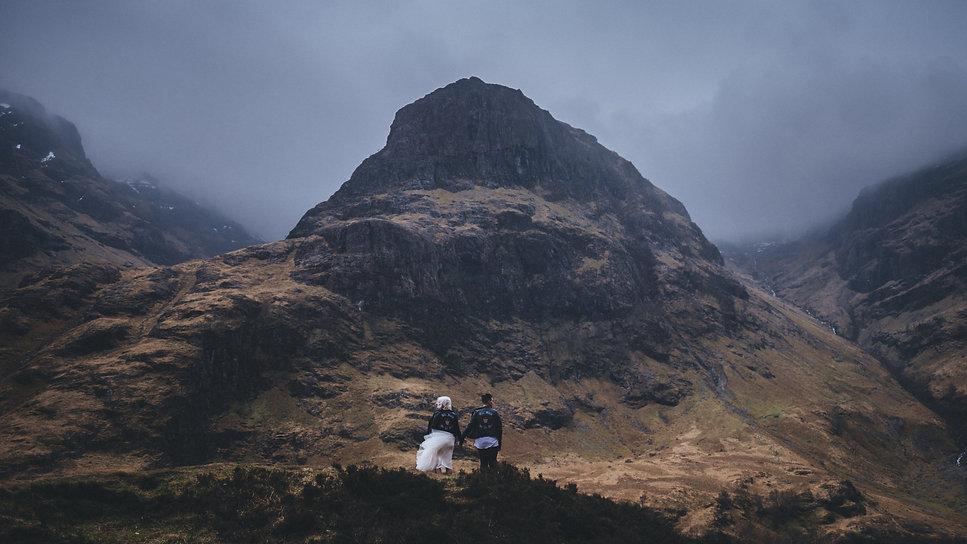 Elopement in the Glencoe mountains, Scotland