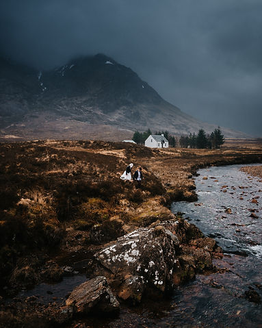 Wedding elopement in the Glncoe mountains, Scotland