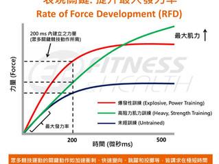 【爆發性表現】提升最大發力率 (RFD)