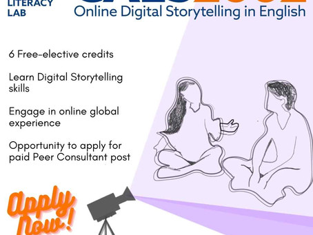 CAES2002: Digital Storytelling in English is back! Apply Now!