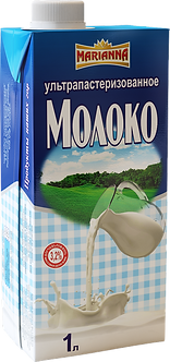 Молоко ультрапастеризованное 3.2% 1л