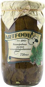 Виноградные листья консервированные АртФуд,720мл.