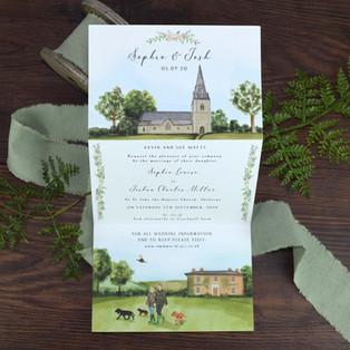 Bespoke wedding invitation sophie watts.