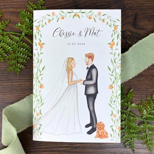 Bespoke wedding invitation chessie and M