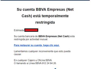 Campaña de Phishing - Banco BBVA