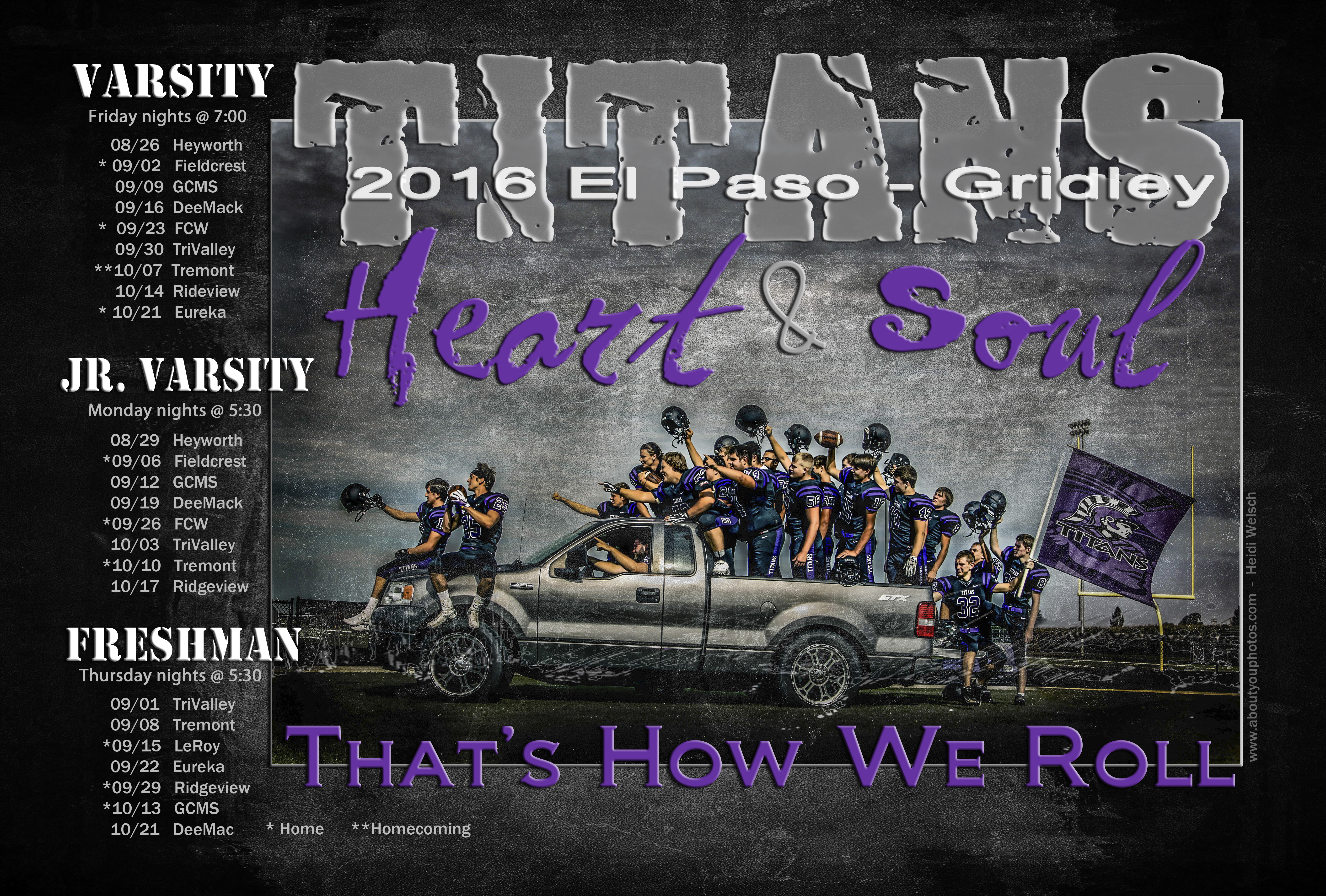 2016 EPG - Football schedule poster