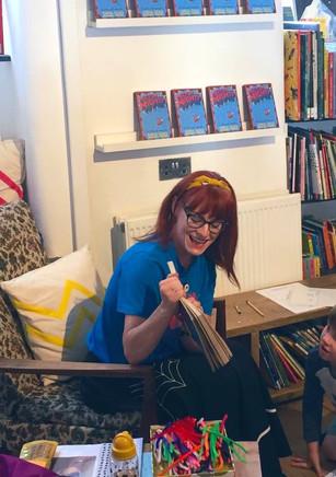 Reading at StorySmith bookshop
