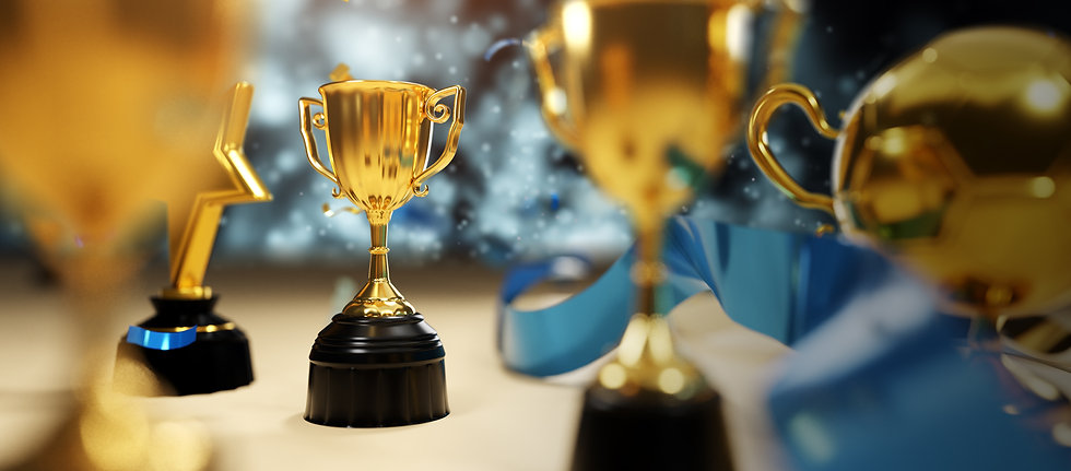 close-up-gold-trophy-award-3d-rendering.