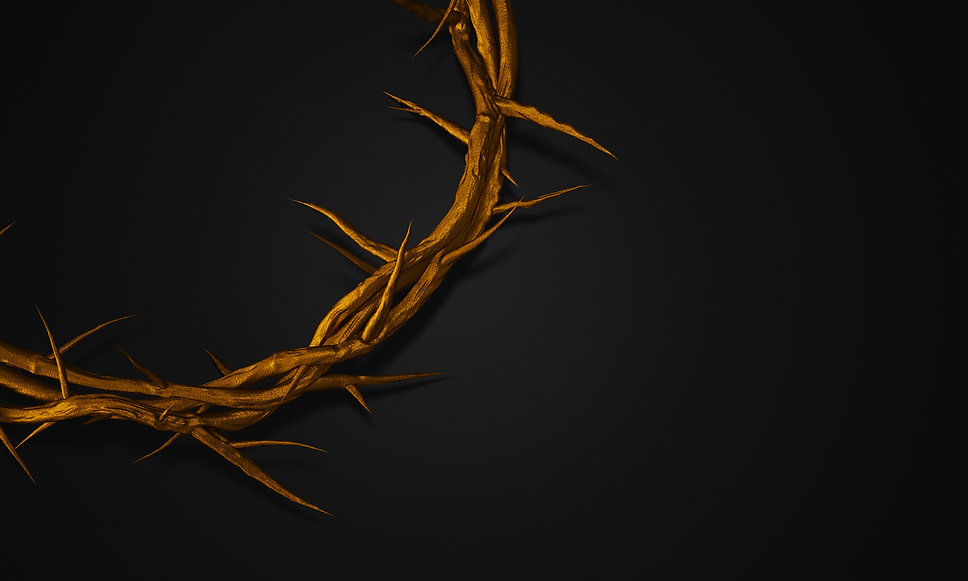 close-up-gold-crown-thorns-3d-rendering-