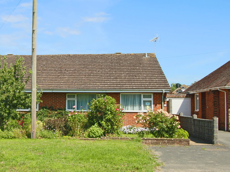 Two bedroom semi detached bungalow, garage and own driveway for numerous vehicles