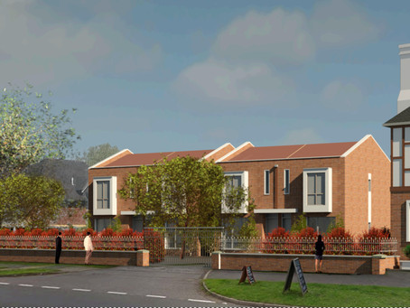 To Let 3 newly constructed town house style homes with 3 bedrooms, garden & off street parking.