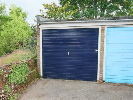 New: A lock up garage in a block just behind St Annes Gardens in Keymer village centre.
