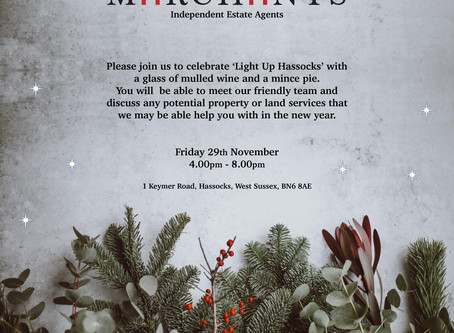 'Light Up Hassocks' 2019 on 29th November from 4-8pm