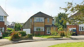 New: A 1930s built detached family home set in large gardens and with potential to update & enlarge.
