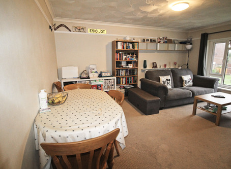 A spacious two bedroom top floor flat having its own private garden.