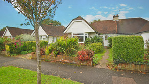 NEW: Semi detached bungalow benefiting from a conservatory and 79ft long west facing rear garden.