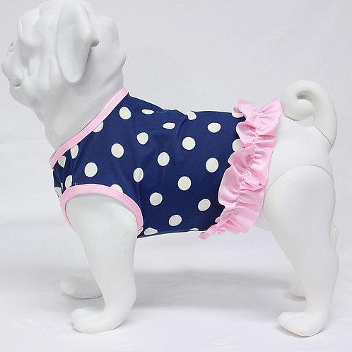 Navy Pink Polka Dot Swimsuit