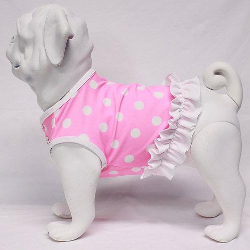 Pink Polka Dot Swimsuit