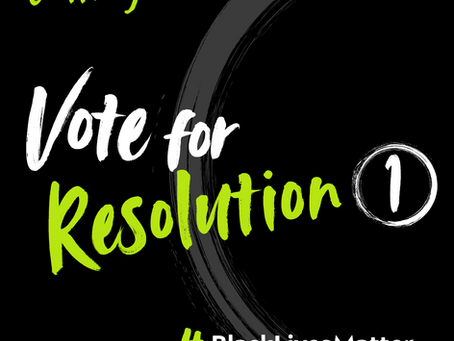 Vote for BACP Resolution #1  to commit BACP to taking action to address institutional racism  #BLACK