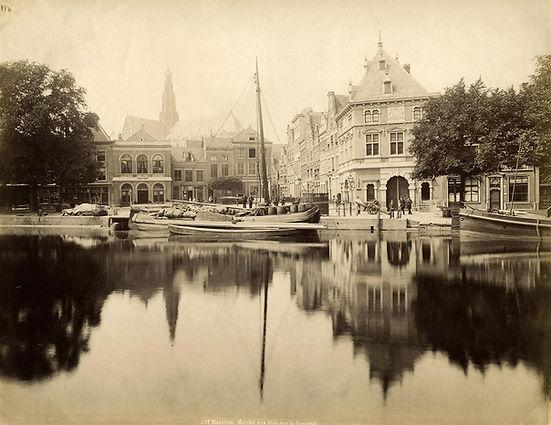 Gezicht op het Spaarne met de Waag, Haarlem