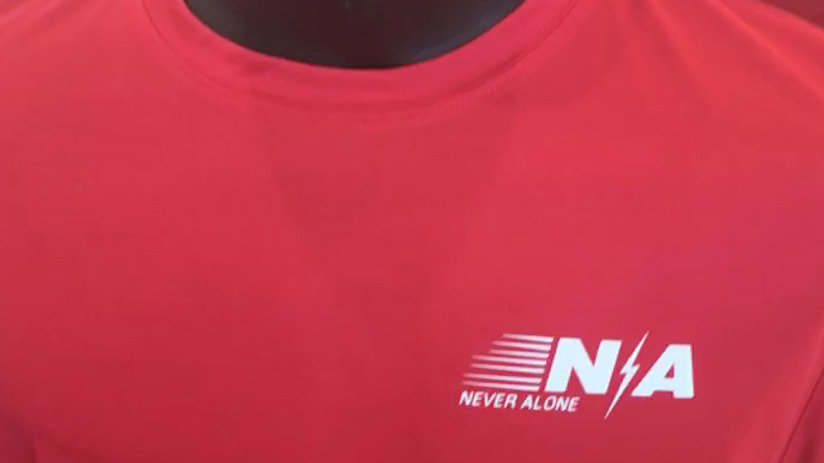 Dri-Fit 100% Polyester N/A Never Alone Lightning Bolt