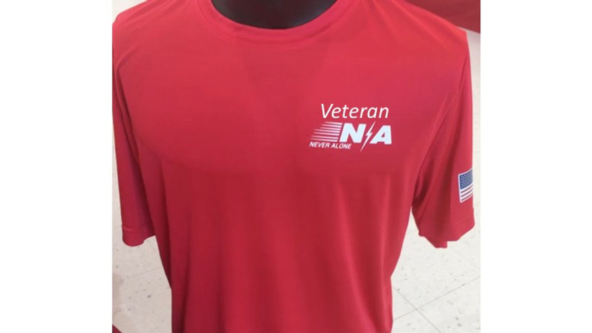 Veteran Dri-Fit (Personalize Only $4.99) 100% Polyester Veteran N/A Never Alone